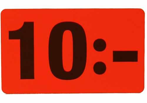 10 kr etikett