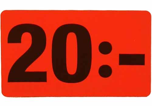 20 kr etikett