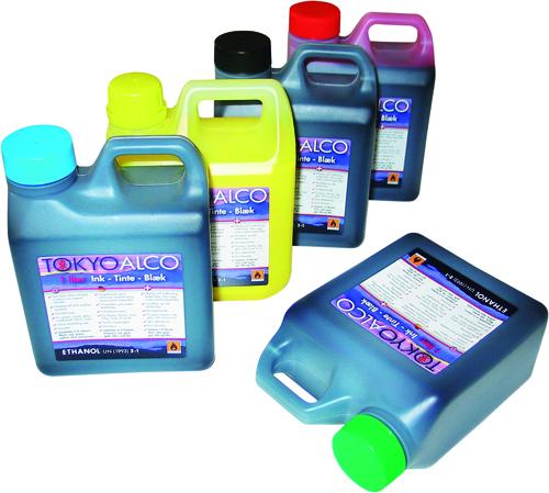 Textfärg etanolbaserad
