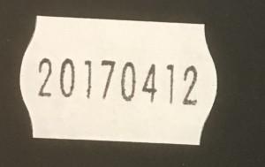 26x16 vit datummärkare
