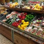 Fruktbord dubbel lutning brunbets överhylla